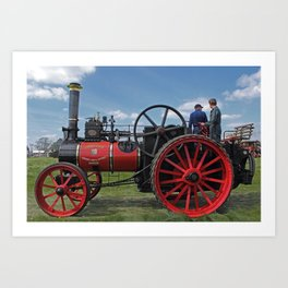 Chieftain traction engine Art Print