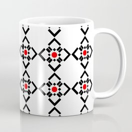 Symmetric patterns 149 red and black Coffee Mug