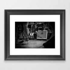 Eddie Vedder Guitar Framed Art Print