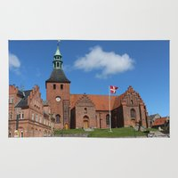 denmark Area & Throw Rugs featuring Vor Frue Kirke, Svendborg, Denmark by Anders Riise Koch