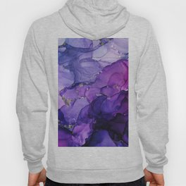 Violet Storm - Abstract Ink Hoody