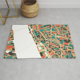 Liverpool City Map - Multicolour Rug