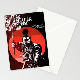 Musashi Samurai - No fear... Stationery Cards