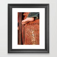Big Boots To Fill Framed Art Print