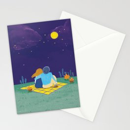 an autumn night Stationery Cards