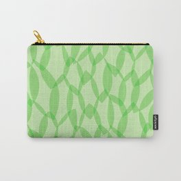 Overlapping Leaves - Light Green Carry-All Pouch