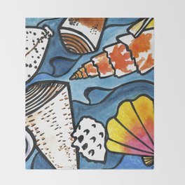 Lots of Lovely Shells  Throw Blanket