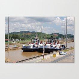 a couple of tugboats Canvas Print