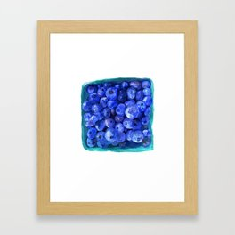 Watercolor Blueberries by Artume Framed Art Print