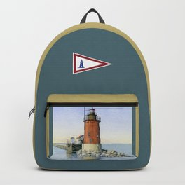 Delaware Breakwater East Light Backpack