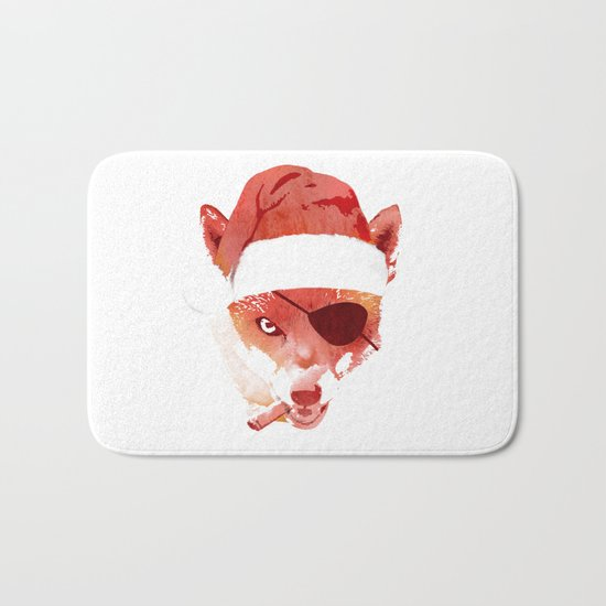 Bad Santa Fox Bath Mat