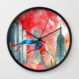 Dawn in NY Wall Clock