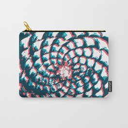 pine cone pattern in coral, aqua and indigo Carry-All Pouch