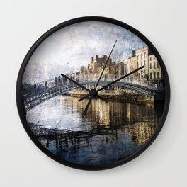 Ha'PPeny Bridge Wall Clock