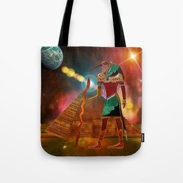Ancient Secrets THOTH 3D Scifi Egyptian Tote Bag