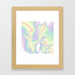 HOLOGRAPHIC DAYDREAM Framed Art Print