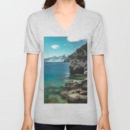 Summertime Lakeside - Crater Lake Unisex V-Neck