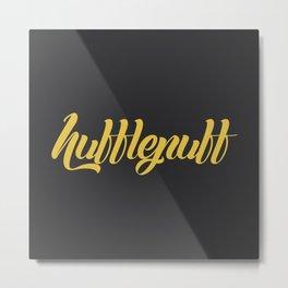 Hufflepuff Graffiti Metal Print