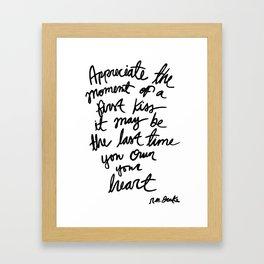 Quote, R. M. Drake Framed Art Print