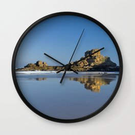 Rock formations on the Costa Vicentina, Portugal Wall Clock