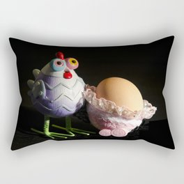 Chicken with her baby Egg Rectangular Pillow