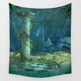 Underwater Ruins Wall Tapestry