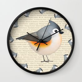 Tufty baeolophus Wall Clock
