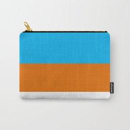 Square Tri-Color [Blue, Orange, White] Carry-All Pouch