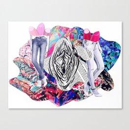 Vulva & Legs Canvas Print