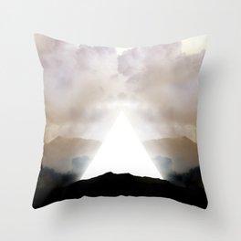Abstract Landscape 02: New Beginnings Throw Pillow