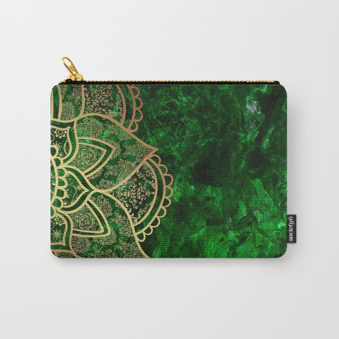Mandala - Emerald Carry-All Pouch