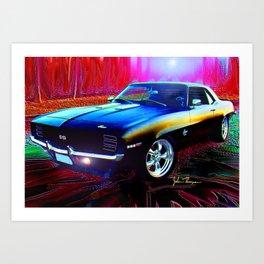69 Camaro SS 396 Art Print
