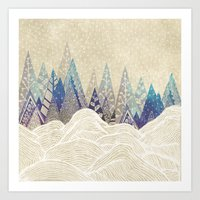dreams Art Prints featuring Snowy Dreams  by rskinner1122