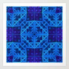Deep in the Blues Art Print