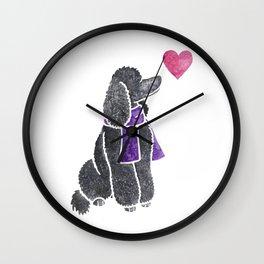 Watercolour Standard Poodle Wall Clock