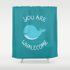 Whale, thank you! Shower Curtain