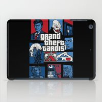 gta iPad Cases featuring Doctor Who and GTA - Nerd Mix by MarcoMellark