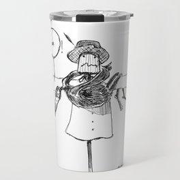 Scarecrow and Crow Travel Mug