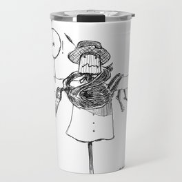 Scarecrow and Crow Travel Mug