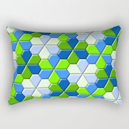 Blues & Greens Rectangular Pillow