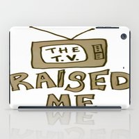 tv iPad Cases featuring tv by gasponce
