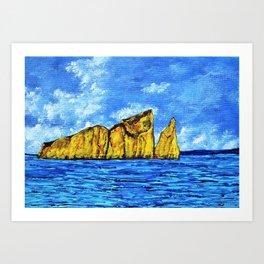 Kicker Rock (León Dormido) Galapagos Art Print