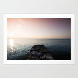 Sunrise Over the Rocks Art Print
