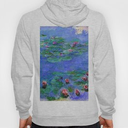 Claude Monet Waterlilies Red Hoody