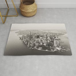 Manhattan New York Black & White Rug