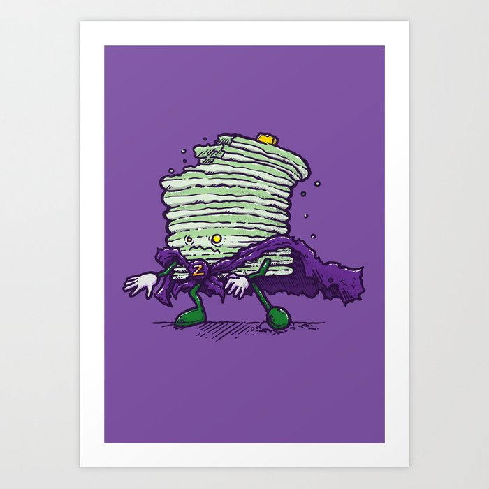 Captain Zombiecake Art Print