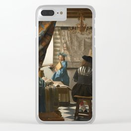 """Johannes Vermeer """"The Art of Painting"""" Clear iPhone Case"""