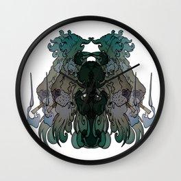 Smoking Lion Wall Clock