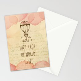 There's Such A Lot Of World To See Stationery Cards
