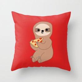 Pizza Sloth Throw Pillow